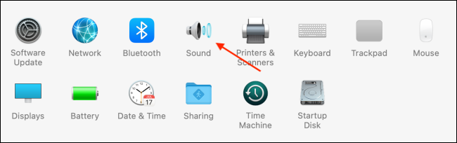 Click Sound in System Preferences