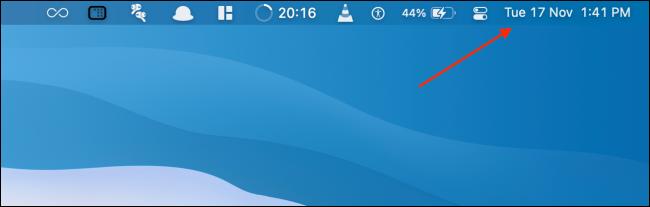 Click Time in Mac Menu Bar to Open Notification Center