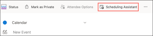 Click the Scheduling Assistant button