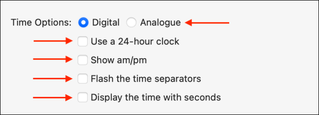 "The ""Time Options"" menu on Mac."