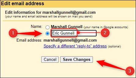 Enter and save new display name