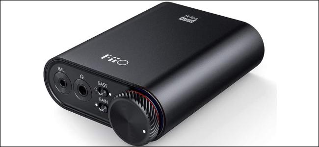 A black portable digtal-to-audio converter