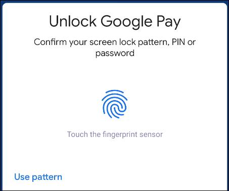 unlock Google Pay