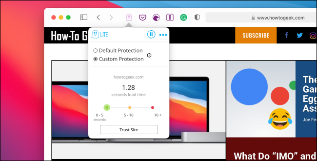 Ghostery extension in Safari