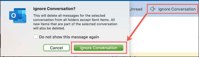 Click Ignore Conversation