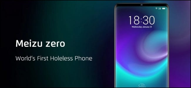 The Meizu zero Holeless Phone.