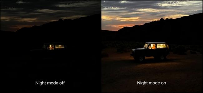 Apple Night Mode Comparison