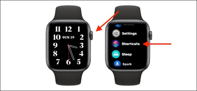 Open Shortcuts App on Apple Watch