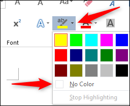Remove color from text option