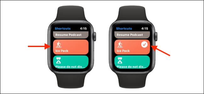 Run Shortcut from Shortcuts app on Apple Watch