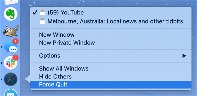Force Quit an App in macOS
