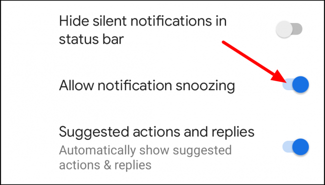 allow notification snoozing