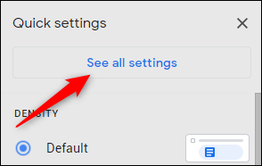 See all settings button