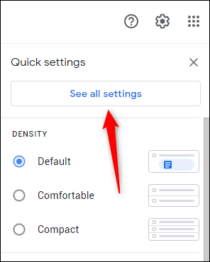 See all settings option