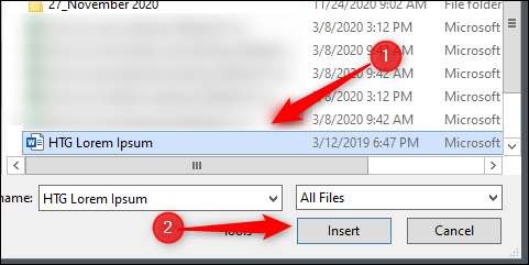 Select and open file