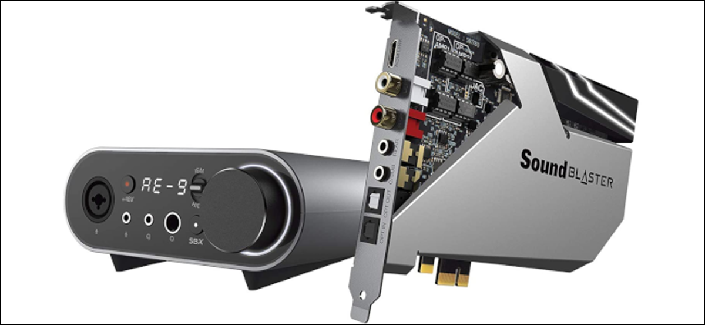 Creative's Sound Blaster AE-9 PCIe card with audio control module