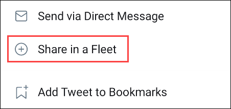 select share in a tweet