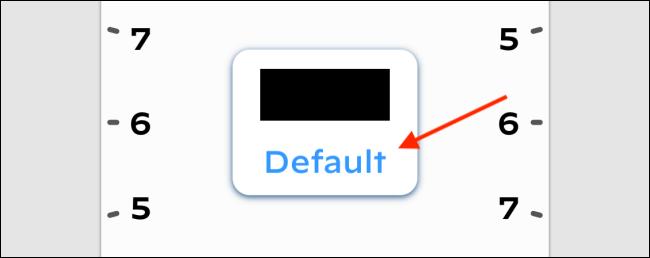 Tap Default from Bezel Text