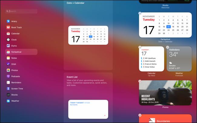 UI for Editing Widgets on Mac