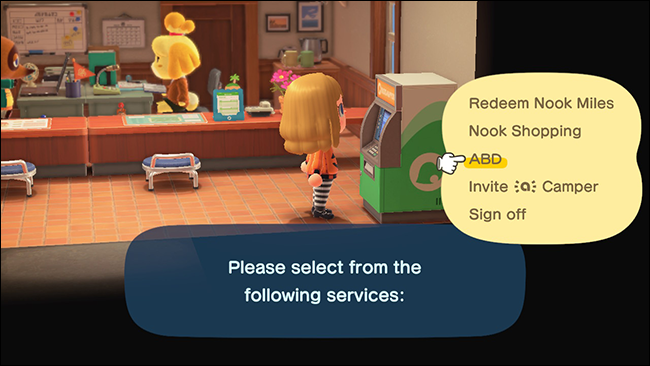"An ""Animal Crossing: New Horizons"" character at the ABD in Resident Services."