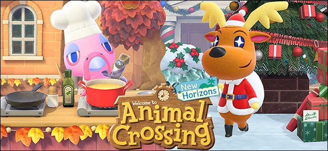 """The """"Welcome to 'Animal Crossing New Horizons'"""" screen."""