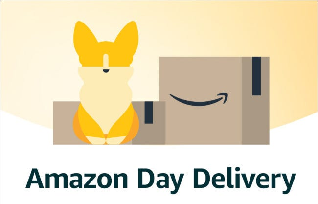 Amazon Day Delivery Illustration
