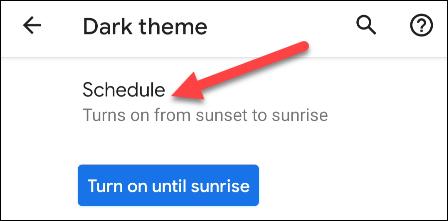 choose a schedule