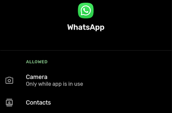 Navigate to app permissions in Android settings