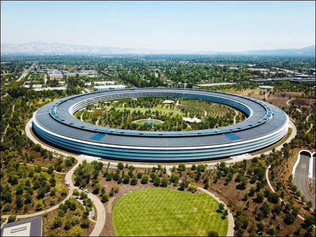 Apple's campus in Cupertino.