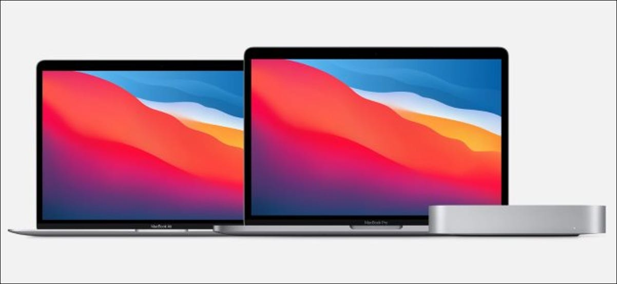 The MacBook Air, MacBook Pro, and Mac Mini with M1 chips.