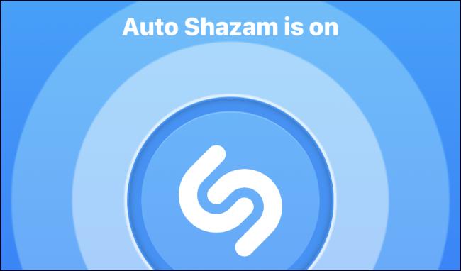 Auto Shazam mode enabled on the Shazam app on iPhone