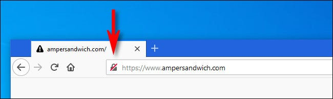 In Firefox, click the lock icon next to the website address.
