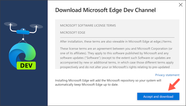 Download Microsoft Edge's Linux client on Chromebook
