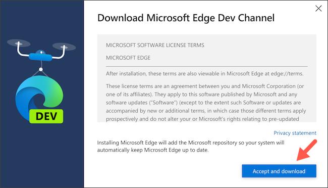 Baixe o cliente Linux do Microsoft Edge no Chromebook