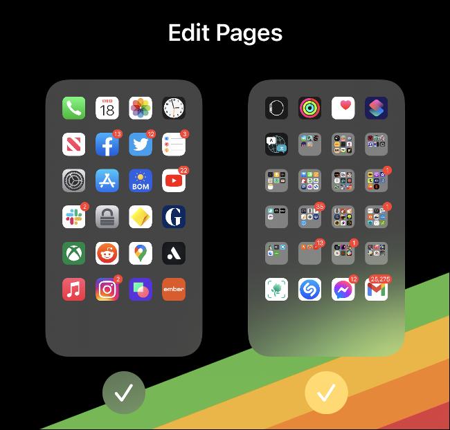 """The """"Edit Pages"""" menu."""