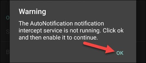 "Tap ""OK"" in the ""Warning"" message."