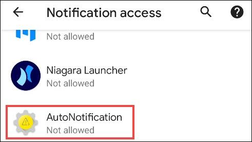 "Tap ""AutoNotification."""