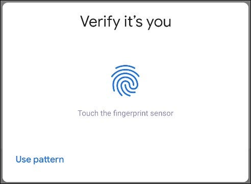 verify it's you