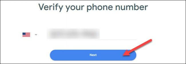 verify number and click next