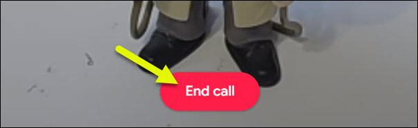 botão de fim de chamada