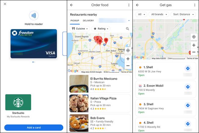 google pay pay tab