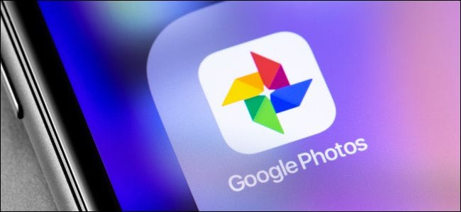 The Google Photos app icon on a smartphone home screen.