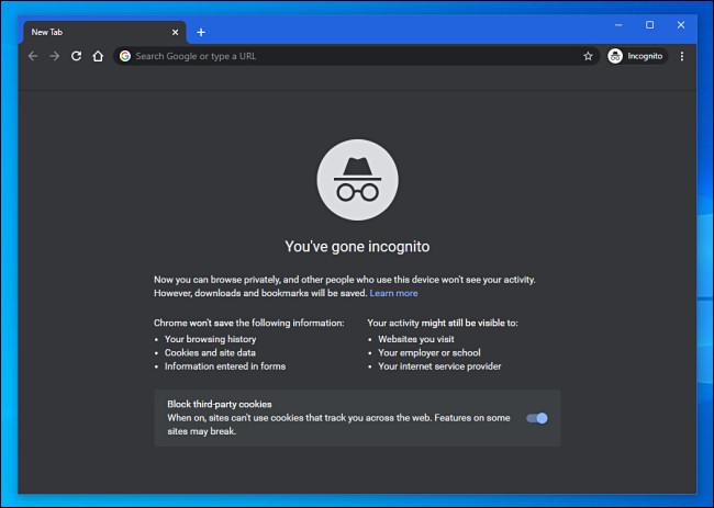 A Google Chrome Incognito Mode Window