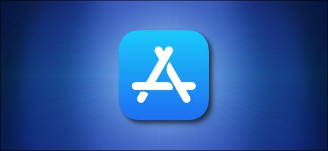 Apple App Store icon on a blue background