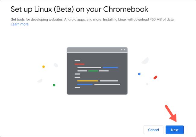 Configure o Linux no Chromebook
