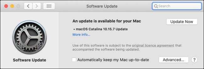 Installing Updates in macOS Catalina