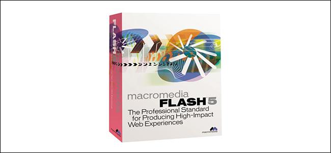 Macromedia Flash 5 packaging