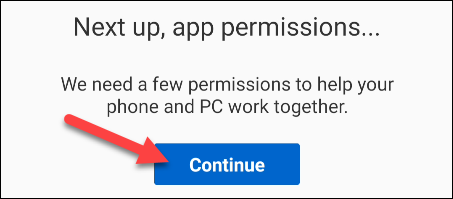 continue with permissions