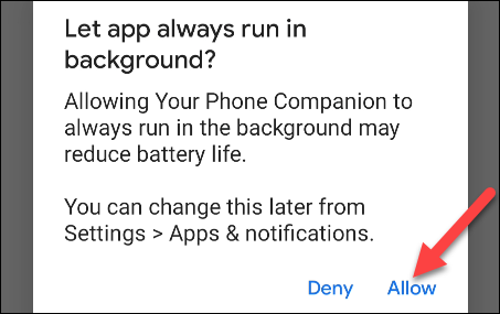 allow Your Phone to run in the backgroud