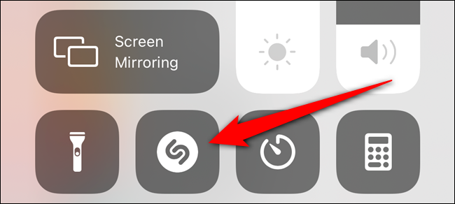 Open the Control Center and then select the Shazam button